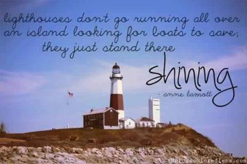 Lighthouse image with Anne Lamotte's Quote